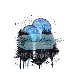 Mama Media Magic Designs Blue Moons Mama Media Magic Graphic Design