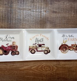 """Tractor & Truck Divided Plate 14x4.5"""""""