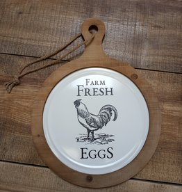 Farm Fresh Eggs Round Wall Hanging 12x16