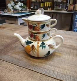 """Plum & Pear Japanese Stacked Teapot 6"""""""