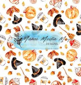 Mama Media Magic Designs Watercolor Fall/Halloween  Mama Media Magic Seamless Design