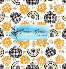 Mama Media Magic Designs Gingham Fall/Halloween Pumpkins and Rainbows  Mama Media Magic Seamless Design