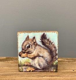Block Sign Squirrel