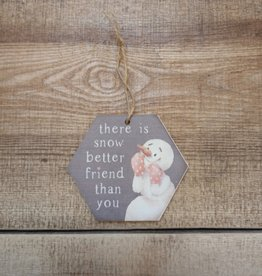Snow better Friend Than You Ornament