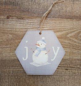 Joy Snowman Ornament