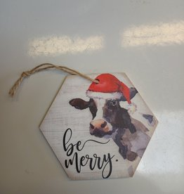 Be Merry Cow Ornament
