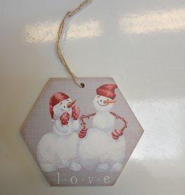 Love Snowmen Ornament