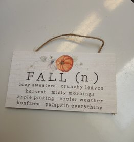 Fall Definition Hanging Sign