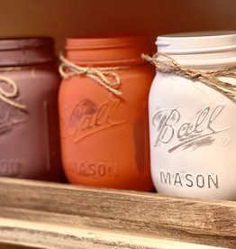 Your Heart's Delight by Audrey's Fall Mason Jars (3) with Tray