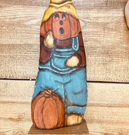 Pumpkin Scarecrow (hand-painted)