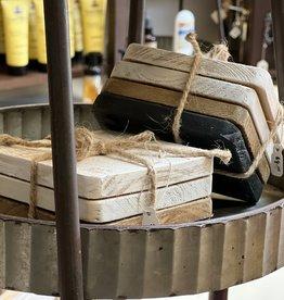 Farmhouse Wooden Coaster Set