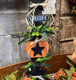Welcome Pumpkin & Star with Lights