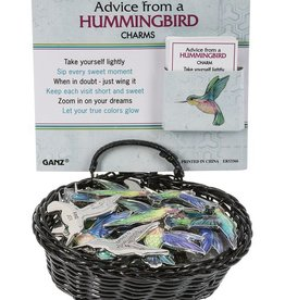 Ganz Advice From A Hummingbird Pocket Charm