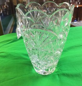 "Lead Glass Vase, 9"", m.1900's"