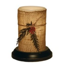 "LastingLite Natural Christmas LastingLite Candle Sleeve (6"")"