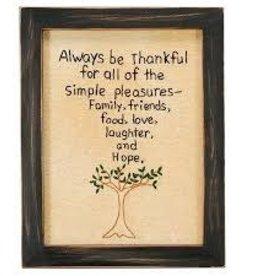 Always Be Thankful Stitchery