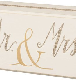 "Mr. & Mrs. Box Sign 3"" x 6"""