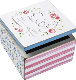 Hopes & Dreams Hinged Box, 4x4x2.75""