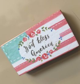 God Bless America Magnet,  3.25x1.75""