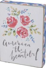 "America the Beautiful Block Sign, 4.5x6"""