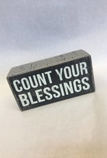 Count Your Blessings (Box Sign)