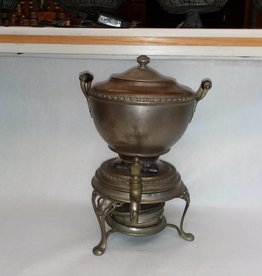 "Coffee Urn w/Steno Heater, 11"" Tall, E.1900's"