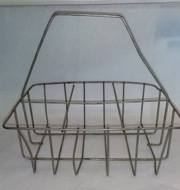 "6 Milk Bottle Carrier, 11x7.5x10.5"", c.1940"
