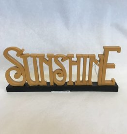 Sunshine (Yellow Word Cut Out on Base)