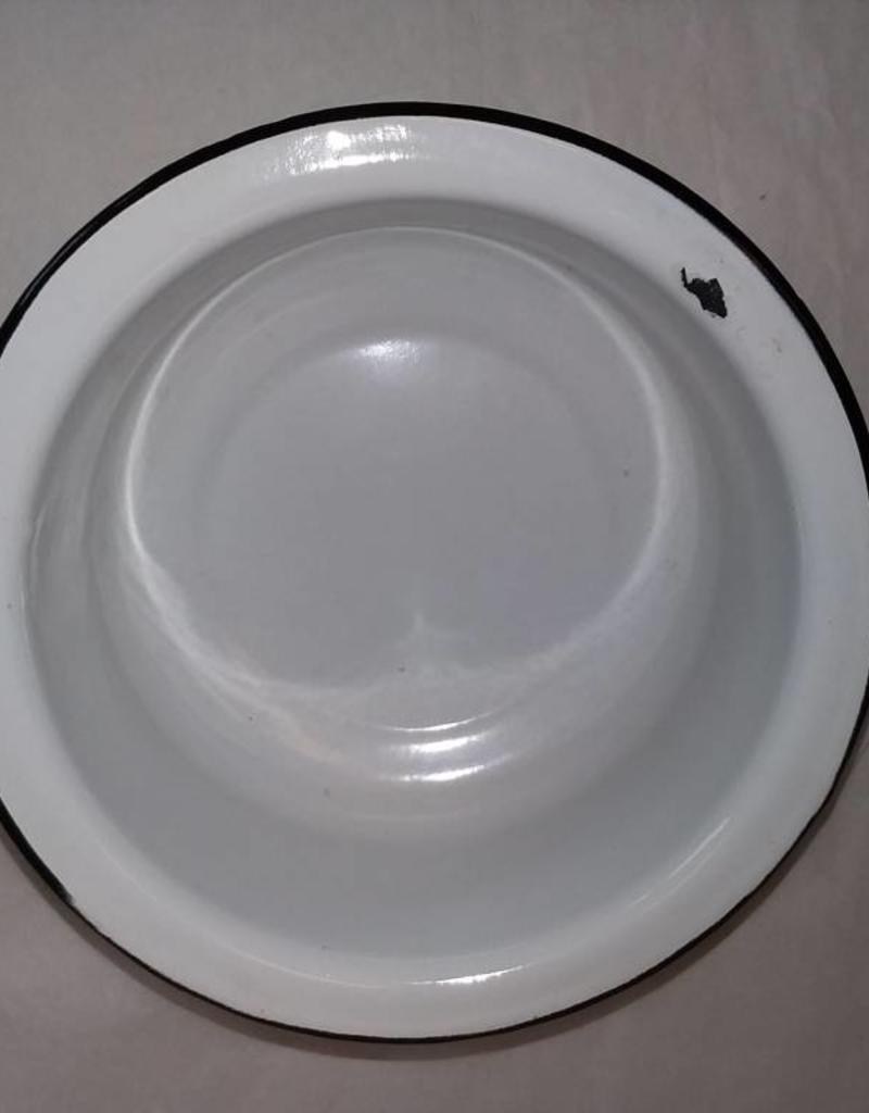 "Federal Vogue White Potty Bowl, 1940's-50's, 7.5"""