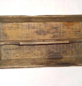"Wood Utensil Tote, 12x6x2.5"", 1930's"