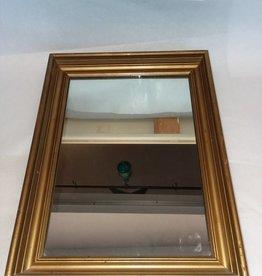 """Victorian Gold Gesso Framed Mirror, 18x13"""", c.1900"""