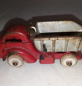 "Hubley Cast Iron Dump Truck #2308, 30's-40's, 4.5"" Long"