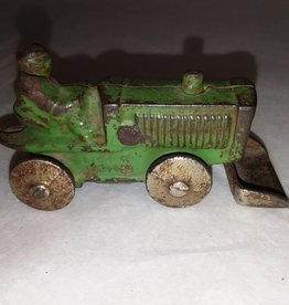 "Cast Iron Toy Tractor with Front Bucket, E.1900's, 3.25"" Long"