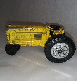 "Hubley Cast Yellow Tractor, 1950's-60's, 5"" Long"