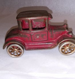 "Model T Cast Iron Car, Nickel Wheels, 5"", c.1918"