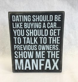 Man Fax (Box Sign)