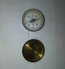"Brass Case Compass, c.1950, 1.5"" Diameter"