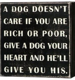A Dog Doesn't Care...