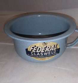 "Federal Glasweld Potty Bowl, 1940's-50's, 7.5"" Diameter"