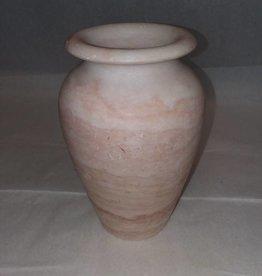 """Pink Marble Vase 7""""  c.1950"""
