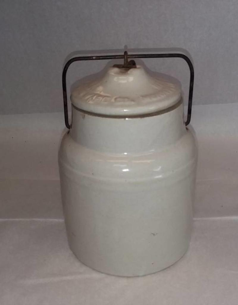 "Preserve Jar w/Weir Seal, 8.25"", E.1900's"