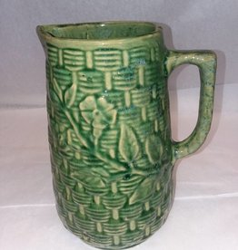 "McCoy Morning Glory Pitcher, c.1920, 9"" Tall"