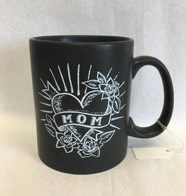 Mom Coffee Mug (black with heart)