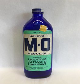 Cobalt Blue Haley's M-O Bottle w/Labels, 50's-60's, 1 Quart