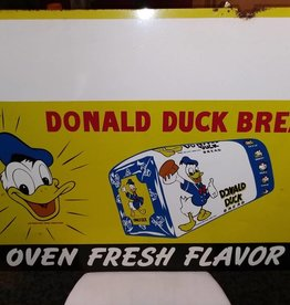 "Tin Donald Duck Bread Sign, 40x28"", 1940's"
