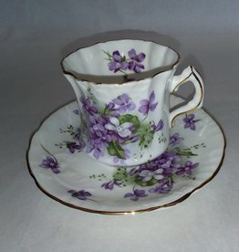 Victorian Violets Cup & Saucer Hammersley Fine Bone China England