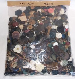 Variety of Unsorted Buttons, Approx. 4 Lbs, 1900's
