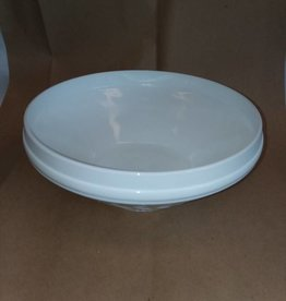"Milk Glass Bowl, Wheat Pattern, 10x4"", c.1950"