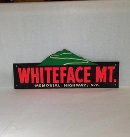 "Souvenir Bumper Tag, Whiteface Mt. Mem'l Hwy, Cardboard 16"", 40's/50's"