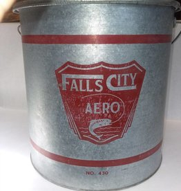 "Falls City Minnow Bucket, #430, 13.5x13.5"", c.1960"